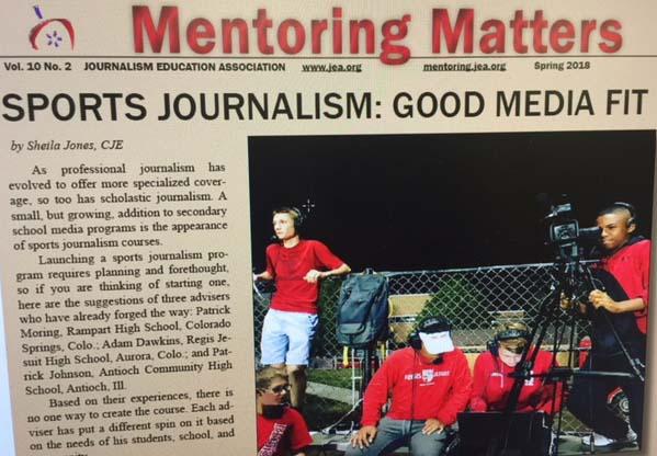 "Sports journalism focus of spring ""Mentoring Matters"""
